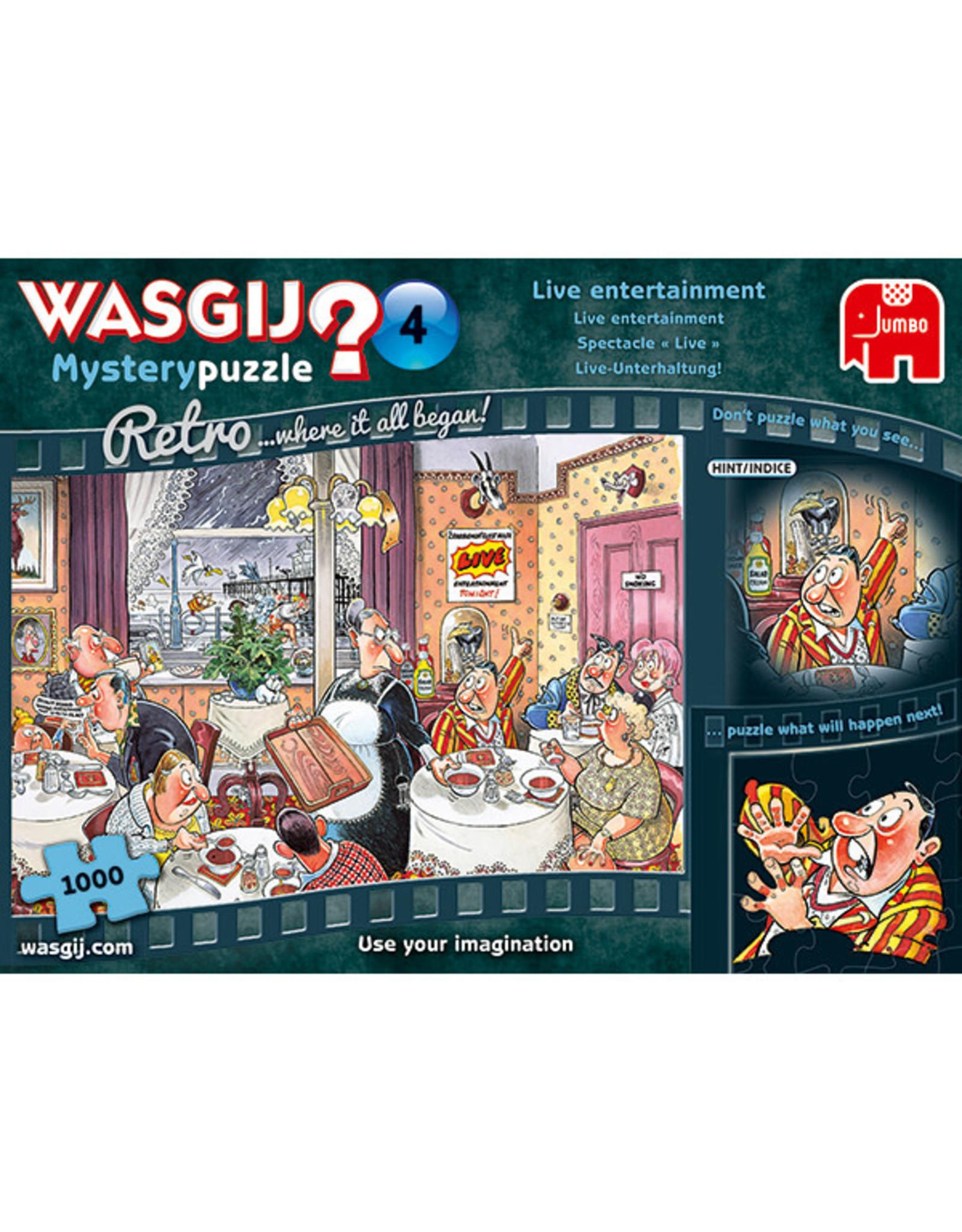 Jumbo Wasgij Mystery Retro #4/ Live Entertainment 1000pc