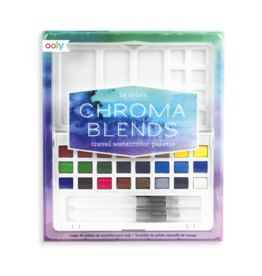 Ooly Chroma Blends Travel Watercolor Palette - 27pc Set