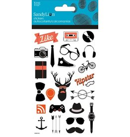 Hipster Small Icons Clear Stickers