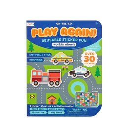 Ooly Play Again! Mini On-The-Go Activity Kit : Working Wheels Reusable Sticker Fun