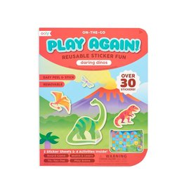 Ooly Play Again! Mini On-The-Go Activity Kit : Daring Dinos Reusable Sticker Fun