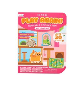 Ooly Play Again! Mini On-The-Go Activity Kit : Pet Play Land Reusable Sticker Fun