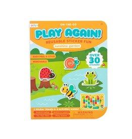 Ooly Play Again! Mini On-The-Go Activity Kit : Sunshine Garden Reusable Sticker Fun