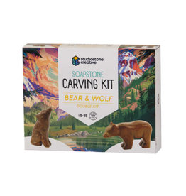 Studiostone Creative Soapstone Carving Kit - Bear & Wolf