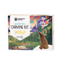 Studiostone Creative Soapstone Carving Kit - Wolf