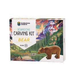 Studiostone Creative Soapstone Carving Kit - Bear