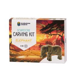 Studiostone Creative Soapstone Carving Kit- Elephant