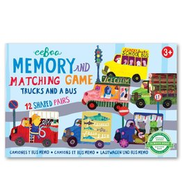 eeBoo Trucks and a Bus Little Matching Game