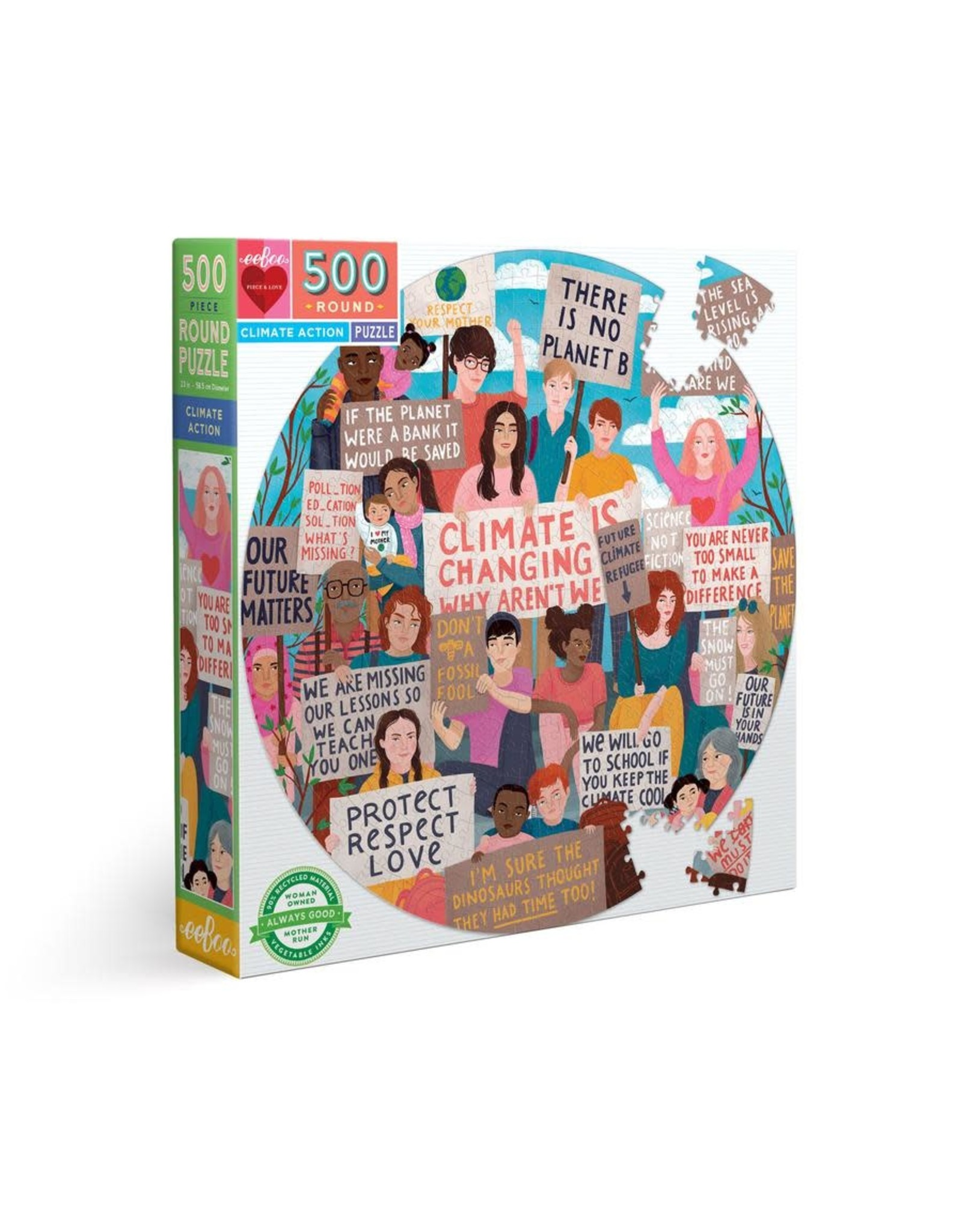 eeBoo Climate Action 500 pc
