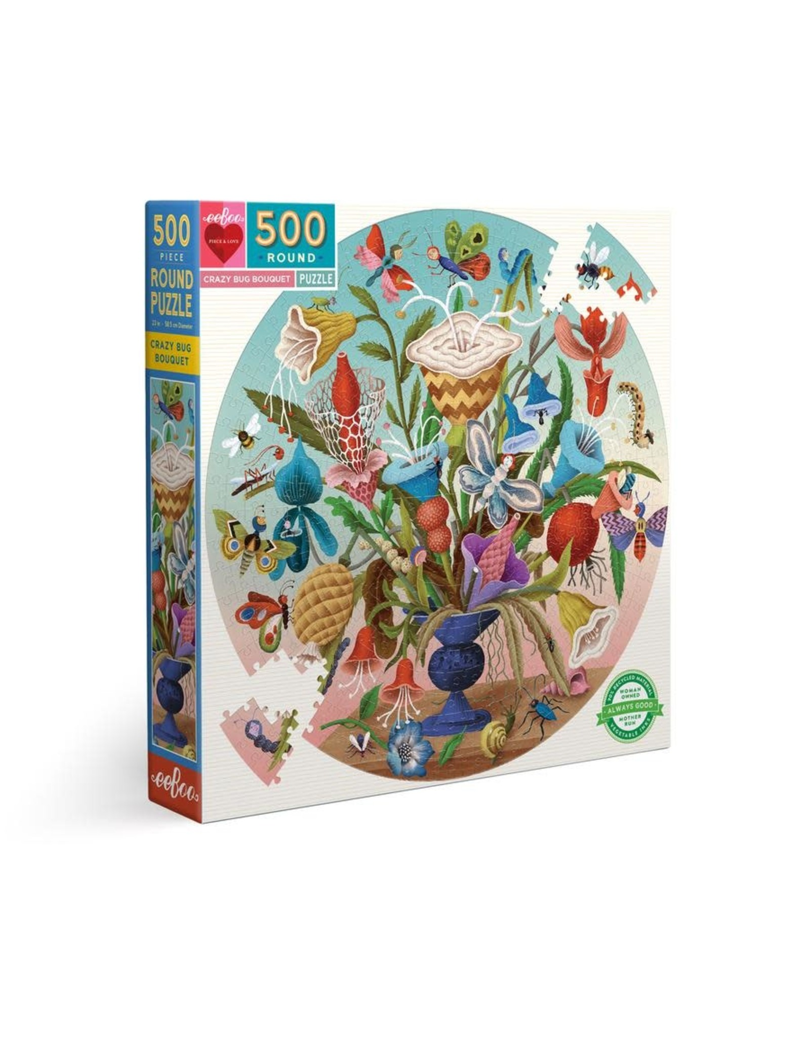 eeBoo Crazy Bug Bouquet 500pc