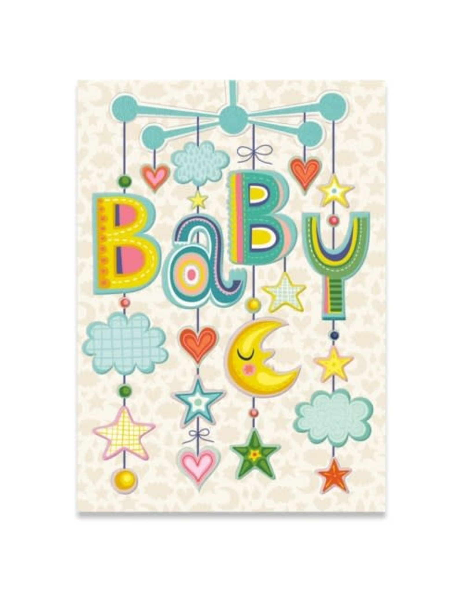 Peaceable Kingdom Baby Mobile Embossed and Foil Card
