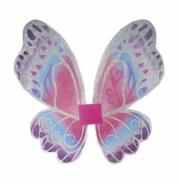 Great Pretenders Glimmerwind Wings, Hot Pink/Royal
