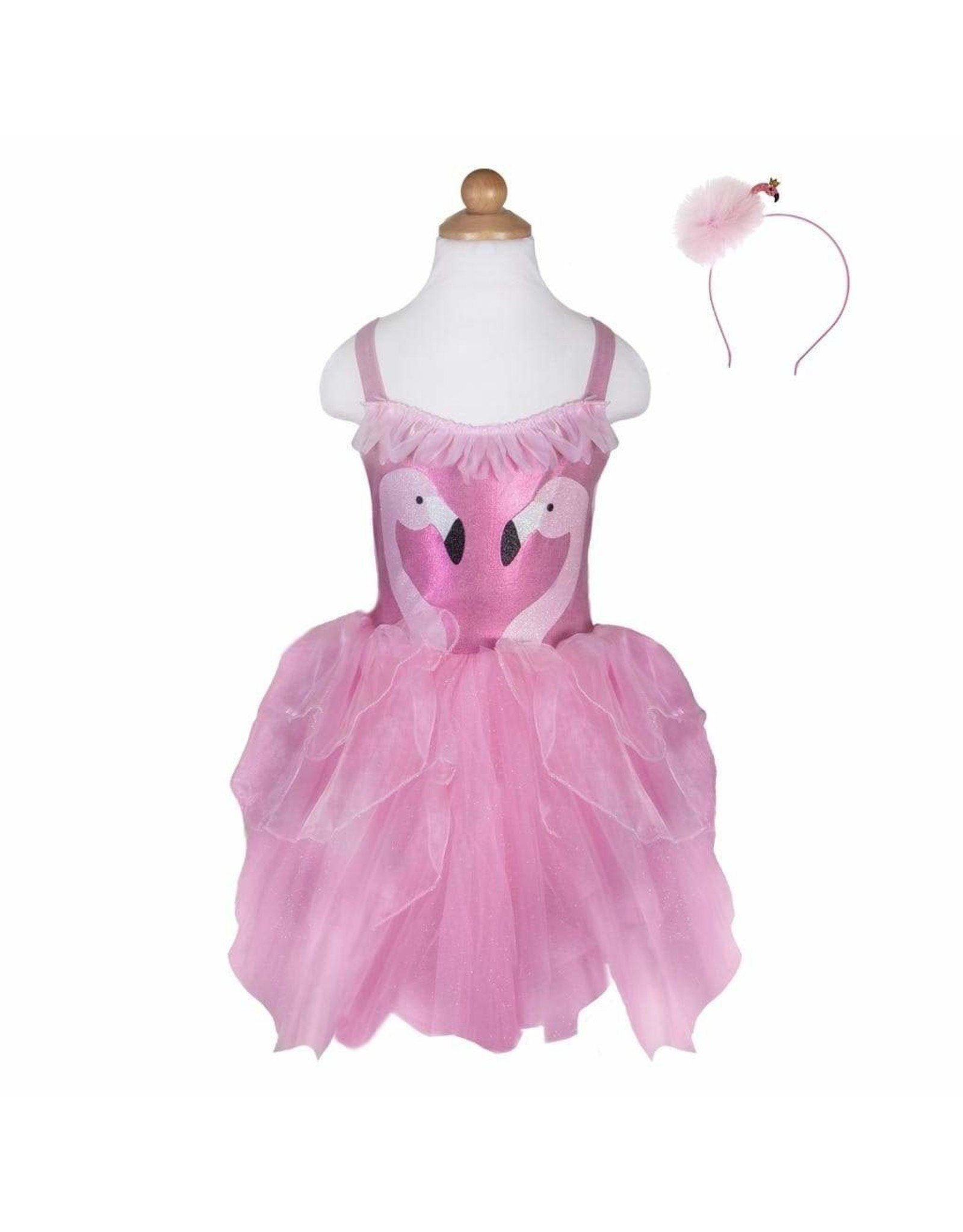 Great Pretenders Fancy Flamingo Dress w/Headband