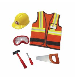Great Pretenders Construction Worker Costume, Size 5/6