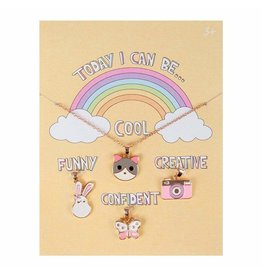 Great Pretenders Today I Can Be Cool Funny Confident Creative Charm Necklace