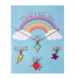 Great Pretenders Today I Can Be Fun Strong Smart Brave Charm Necklace
