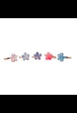 Great Pretenders Boutique Shimmer Flower Rings, 5 pcs