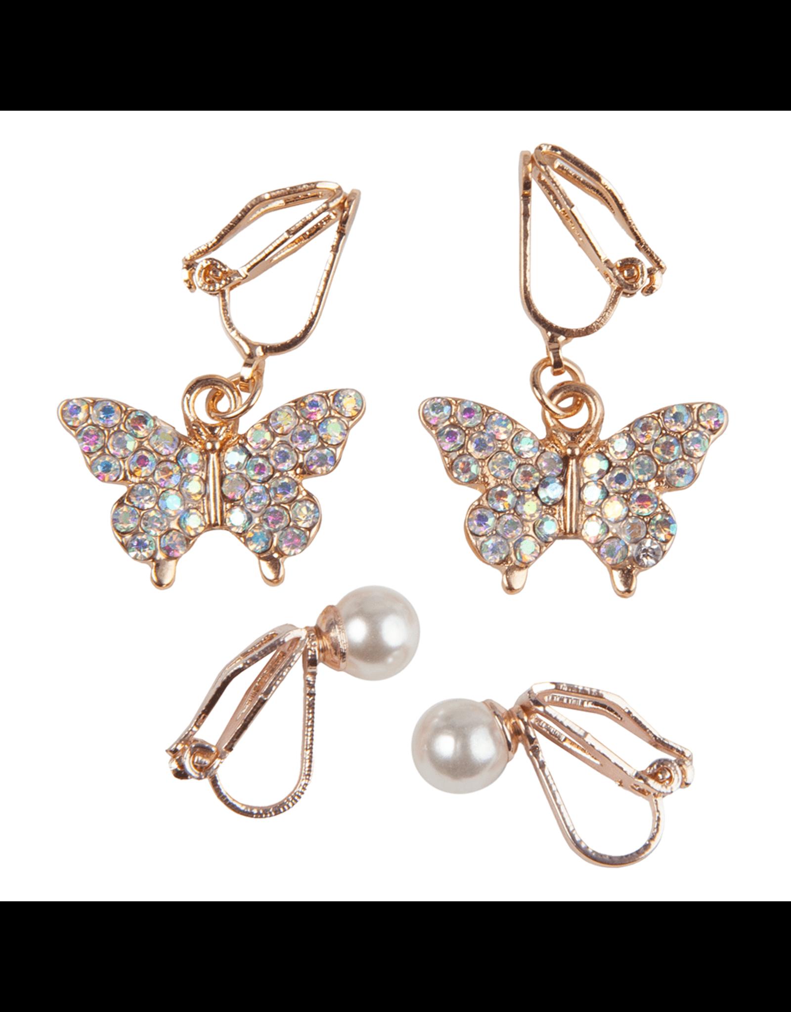 Great Pretenders Boutique Butterfly Clip Earrings