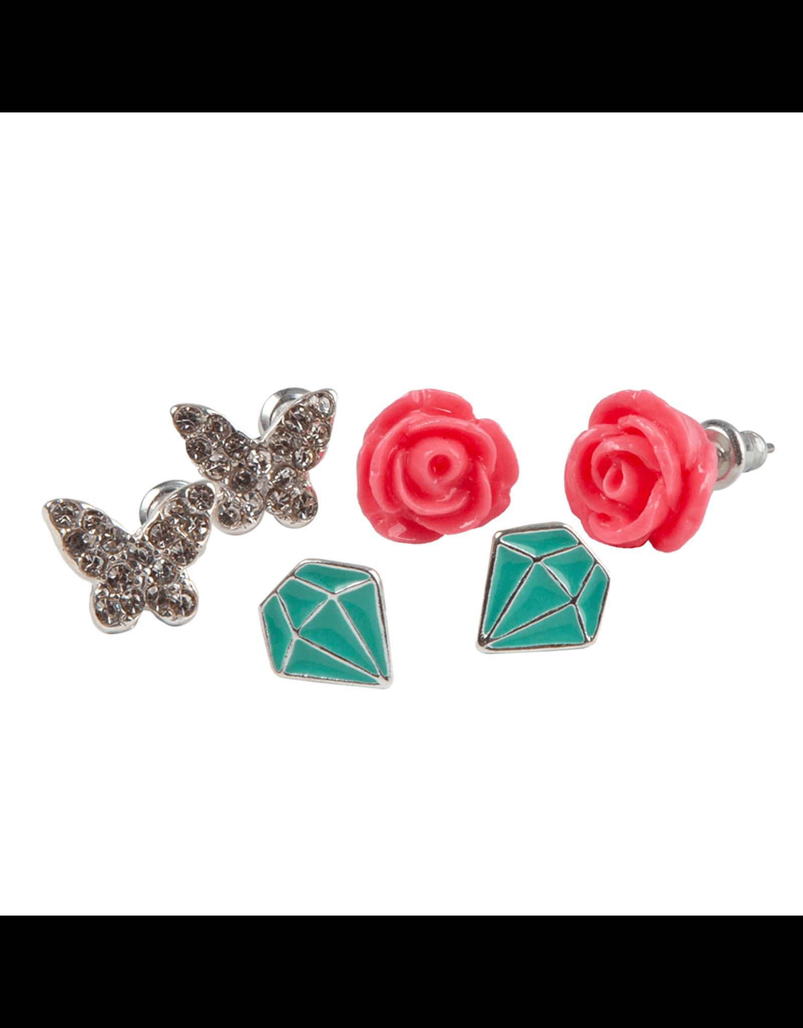 Great Pretenders Boutique Rose Studded Earrings