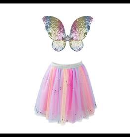 Great Pretenders Rainbow Sequins Skirt, Wings/Wand