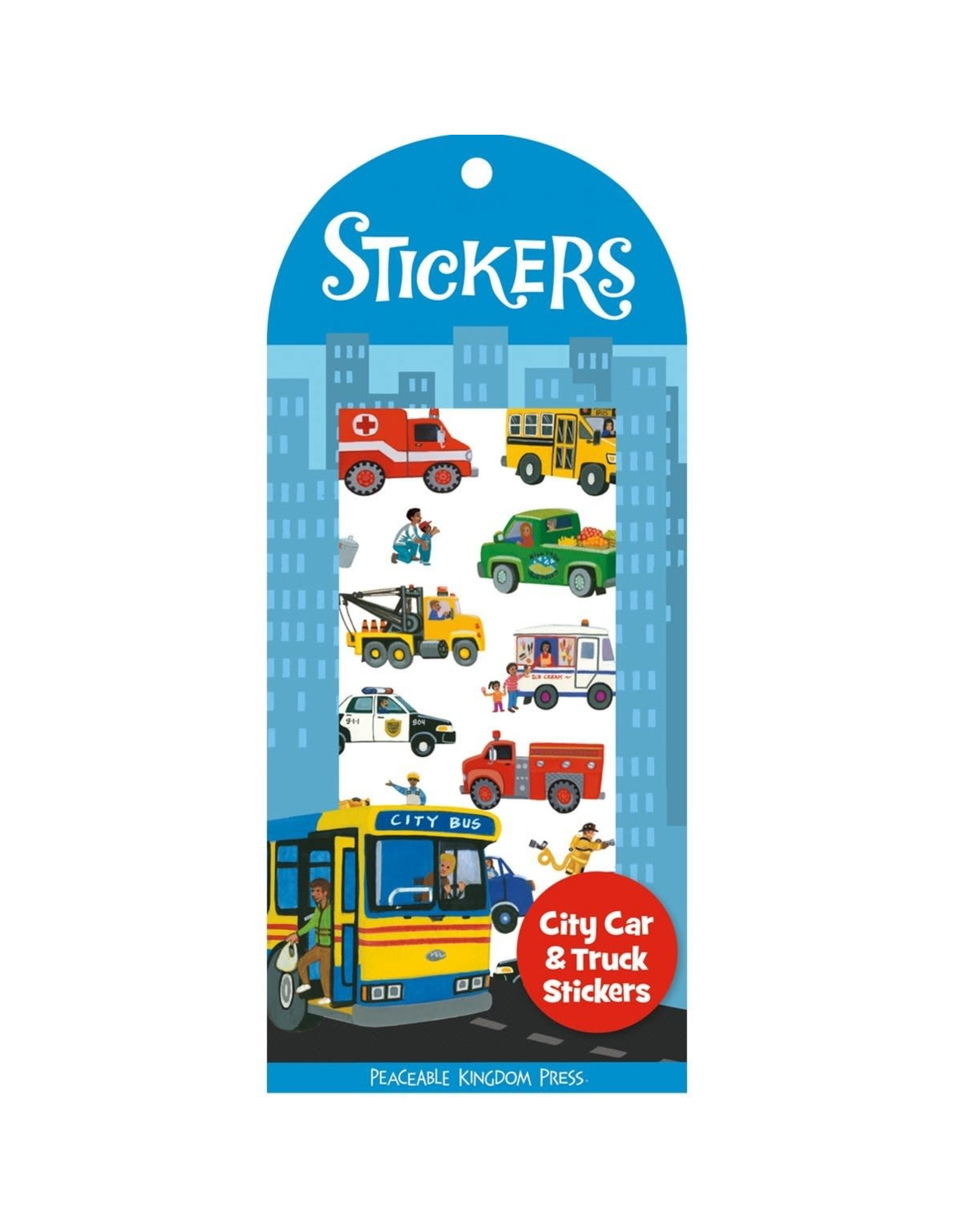 Peaceable Kingdom City Cars & Trucks Stickers