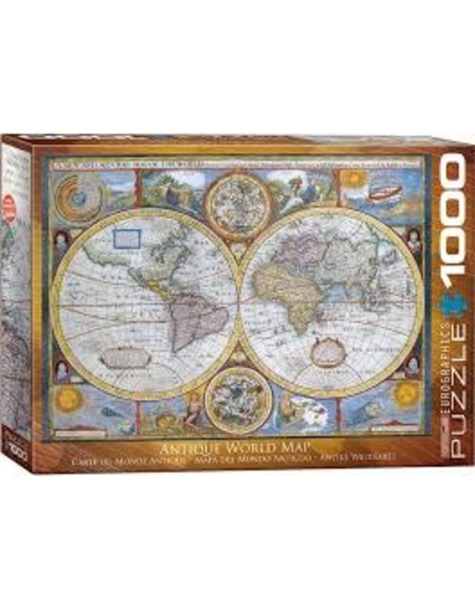 Eurographics Antique World Map 1000 pc