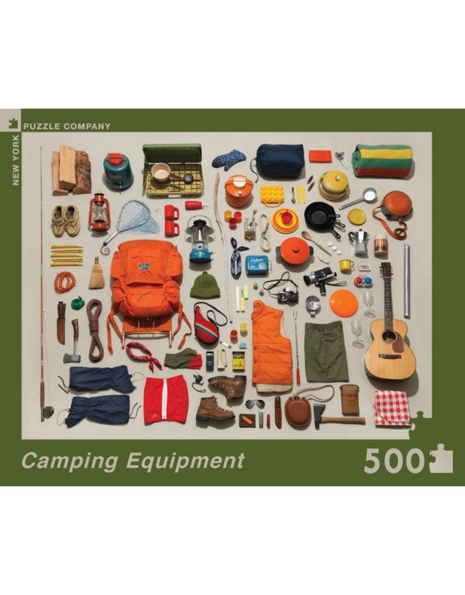 New York Puzzle Co. Camping Equipment 500 pc