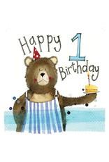 Alex Clark Art 1 Year Old Bear Birthday Card