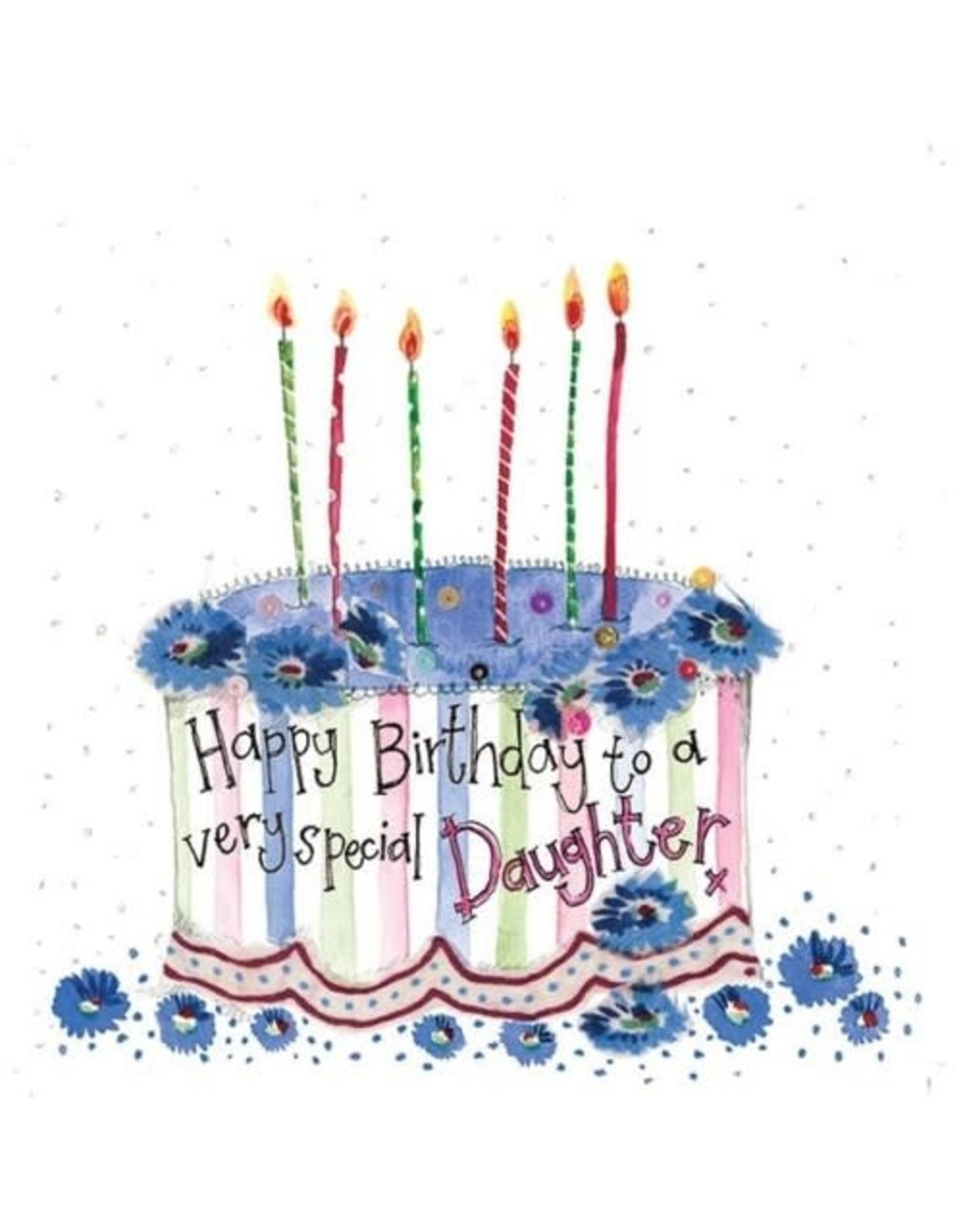 Alex Clark Art Daughter Cake Birthday Card