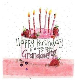 Alex Clark Art Granddaughter Cake Birthday Card