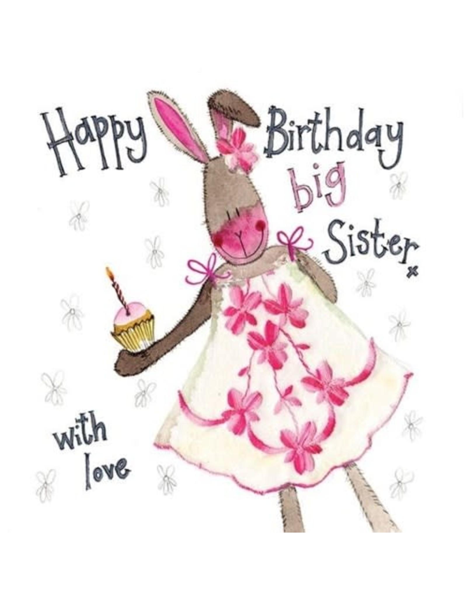 Alex Clark Art Big Sister Rabbit Birthday Card