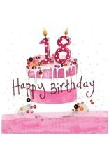 Alex Clark Art 18 Year Old Cake Birthday Card