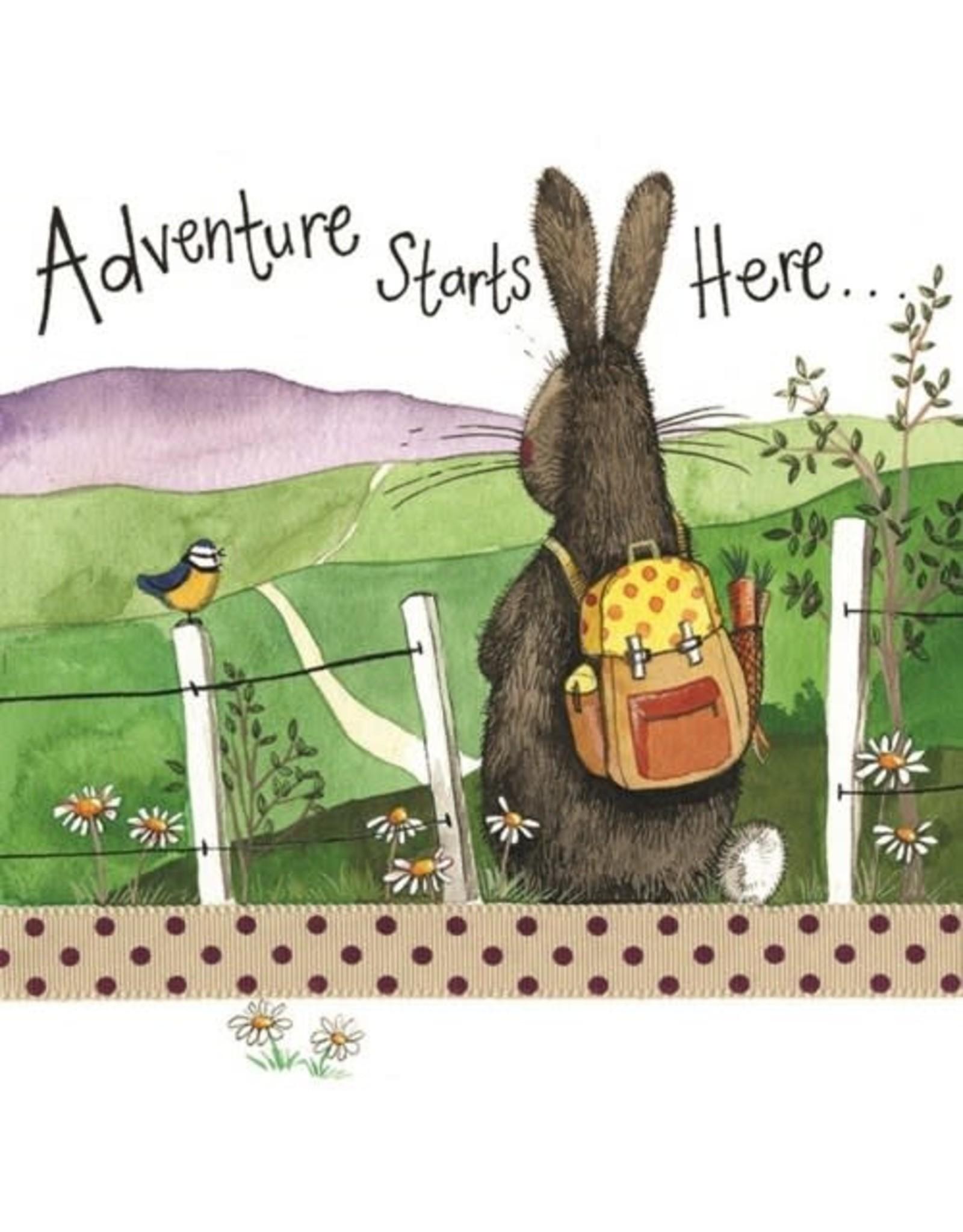 Alex Clark Art Adventure Starts Here Card