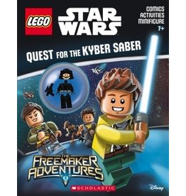 Scholastic LEGO Star Wars Quest for the Kyber Saber Activity Book #3 with Minifigure