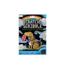 Ooly Playful Pups Scratch & Scribble Mini Scratch Art Kit