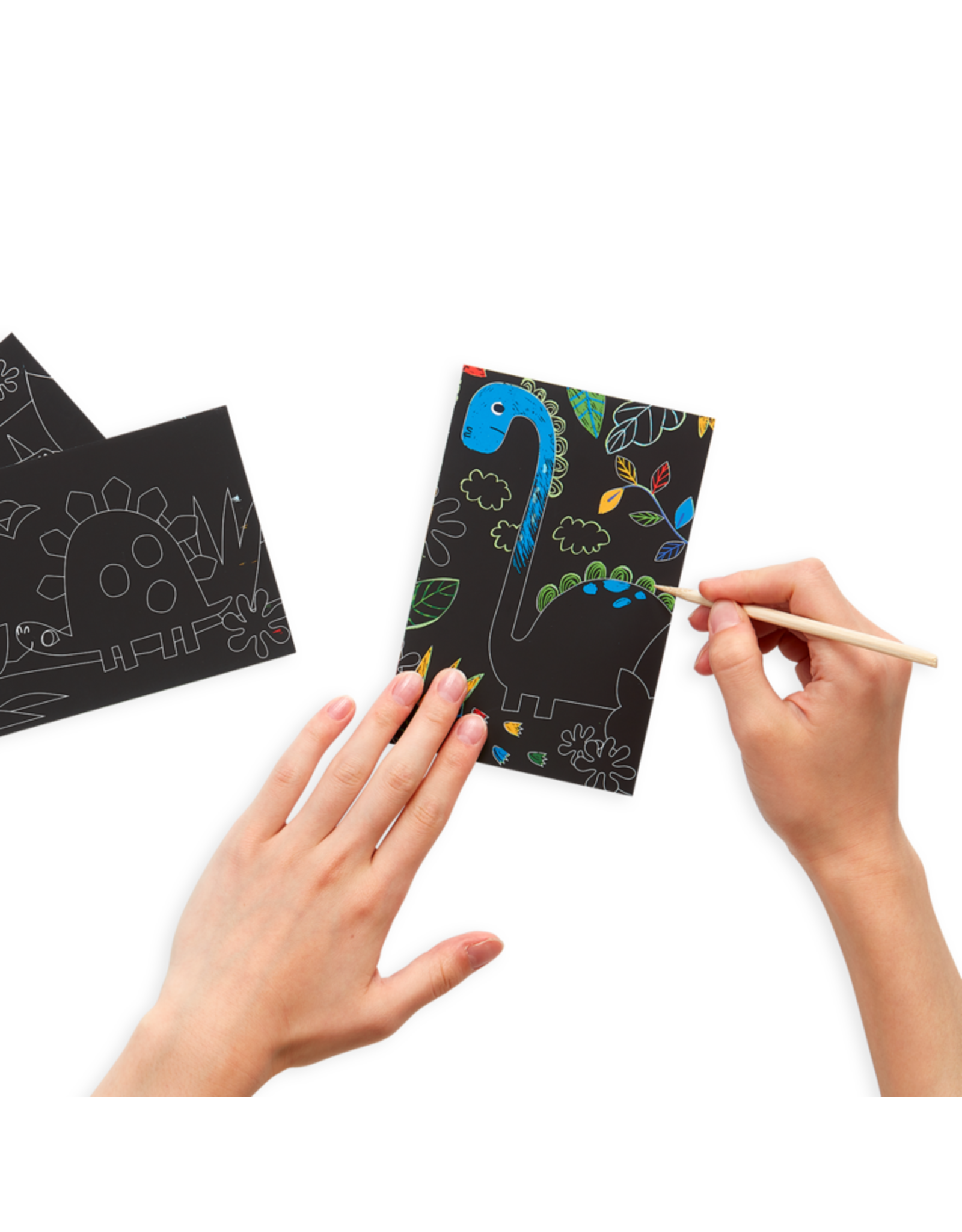 Ooly Dino Days Scratch & Scribble Mini Scratch Art Kit