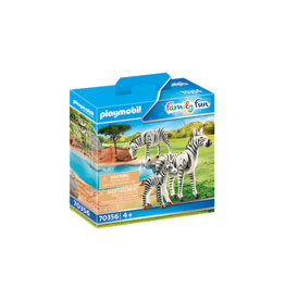 Playmobil Zebras with Foal