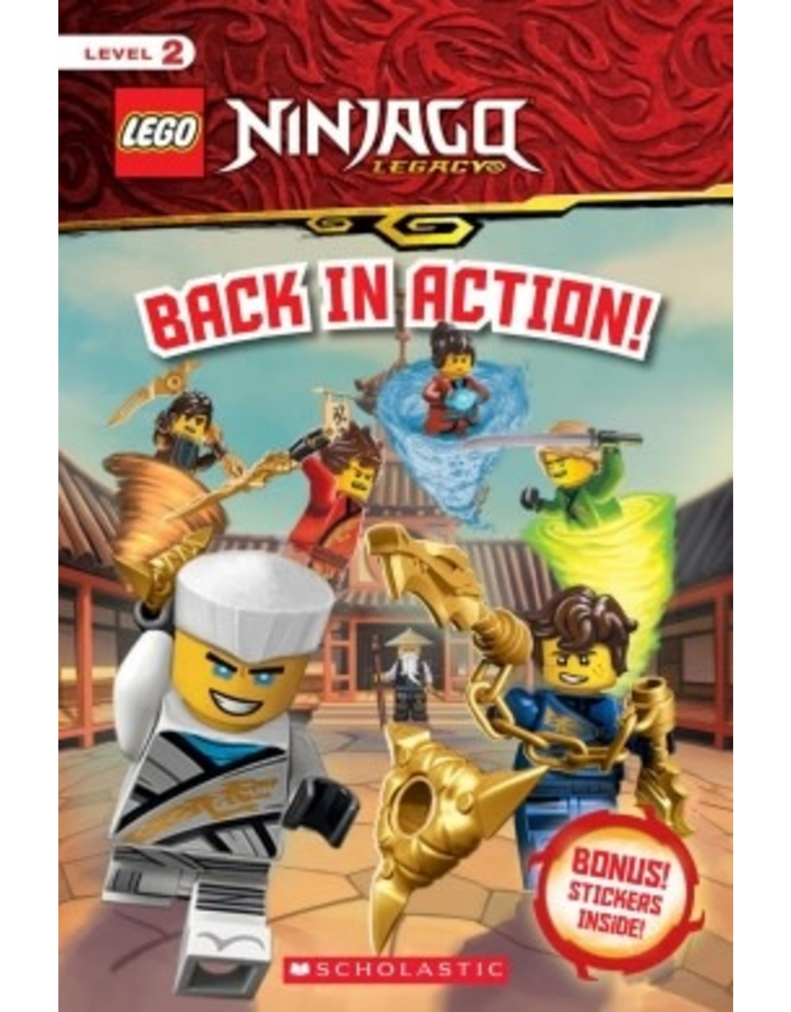 Scholastic Back in Action! (LEGO Ninjago: Reader with Stickers)