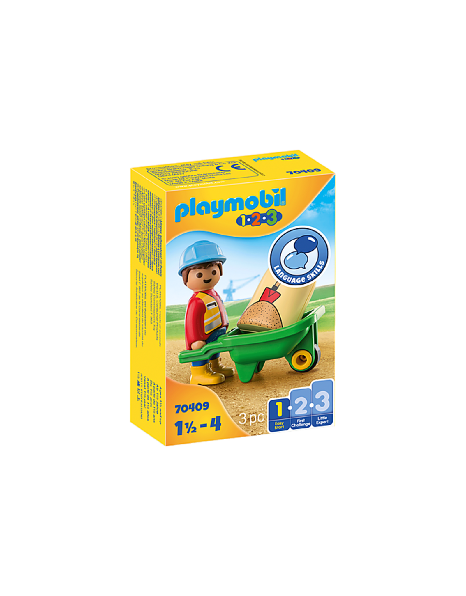 Playmobil Construction Worker with Wheelbarrow