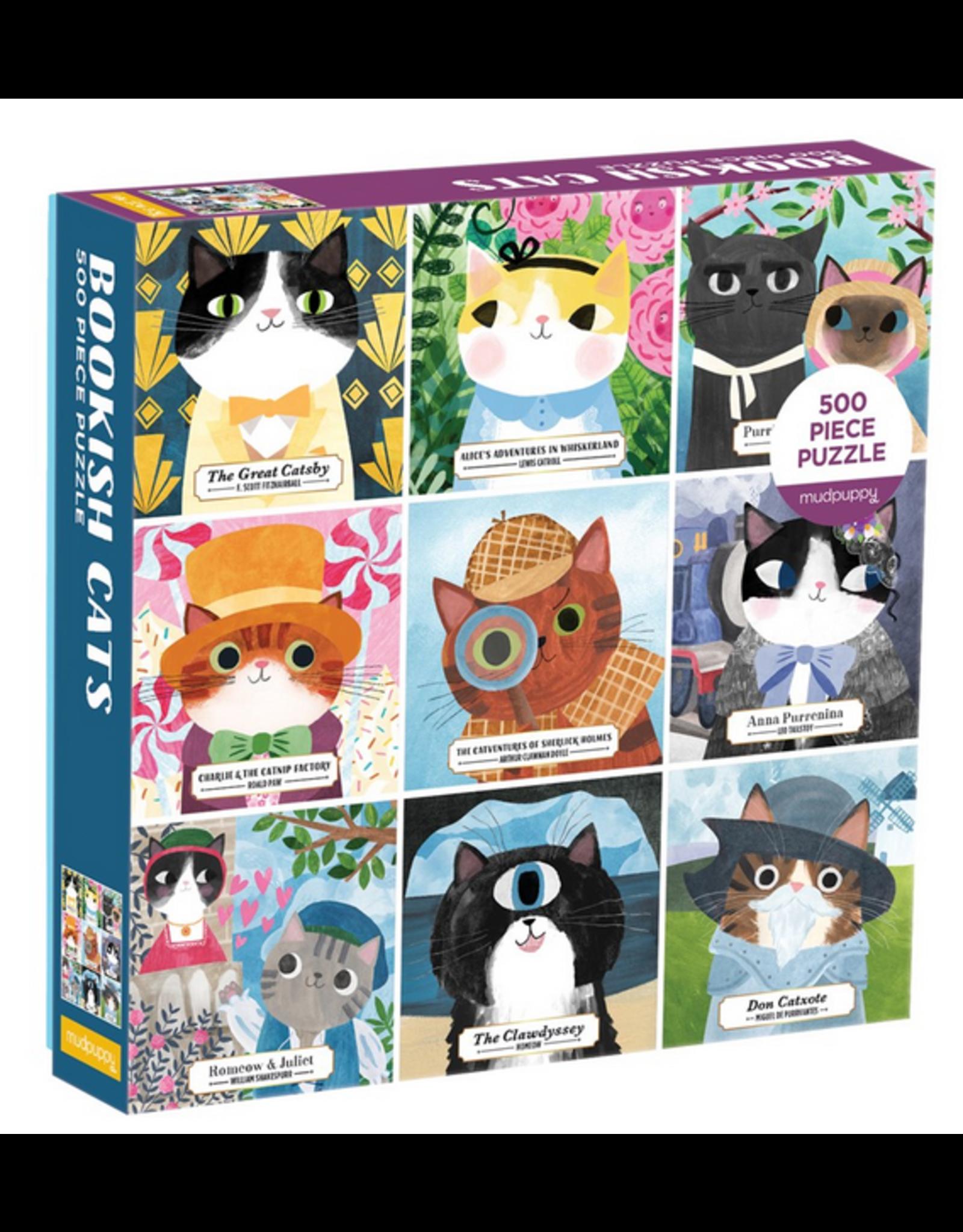 Mudpuppy Bookish Cats 500 pc