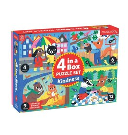 Mudpuppy Kindness 4-In-a-Box Puzzle Set