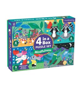 Mudpuppy Mindful 4-In-a-Box Puzzle Set