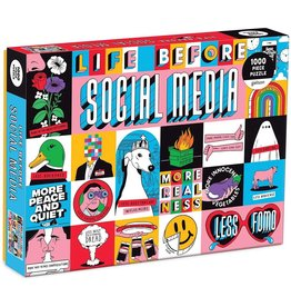 Mudpuppy Life Before Social Media 1000 pc
