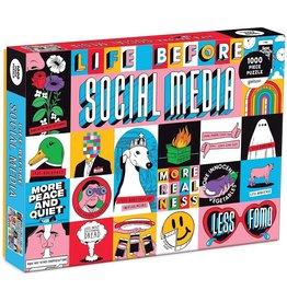 Mudpuppy Life Before Social Media 1000pc
