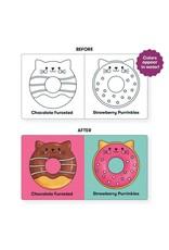 Mudpuppy Cat Donuts Color Magic Bath Book