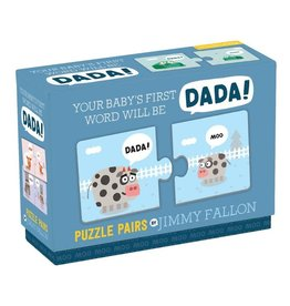 Mudpuppy Jimmy Fallon Your Baby's First Word Will Be Dada Puzzle Pairs