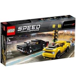 Lego 2018 Dodge Challenger STR and 1970 Dodge Charger R/T