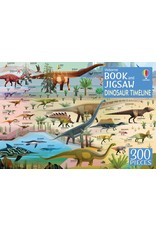 Usborne Dinosaur Timeline Book and 300pc Puzzle