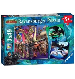 Ravensburger How to Train Your Dragon 3x49 pc