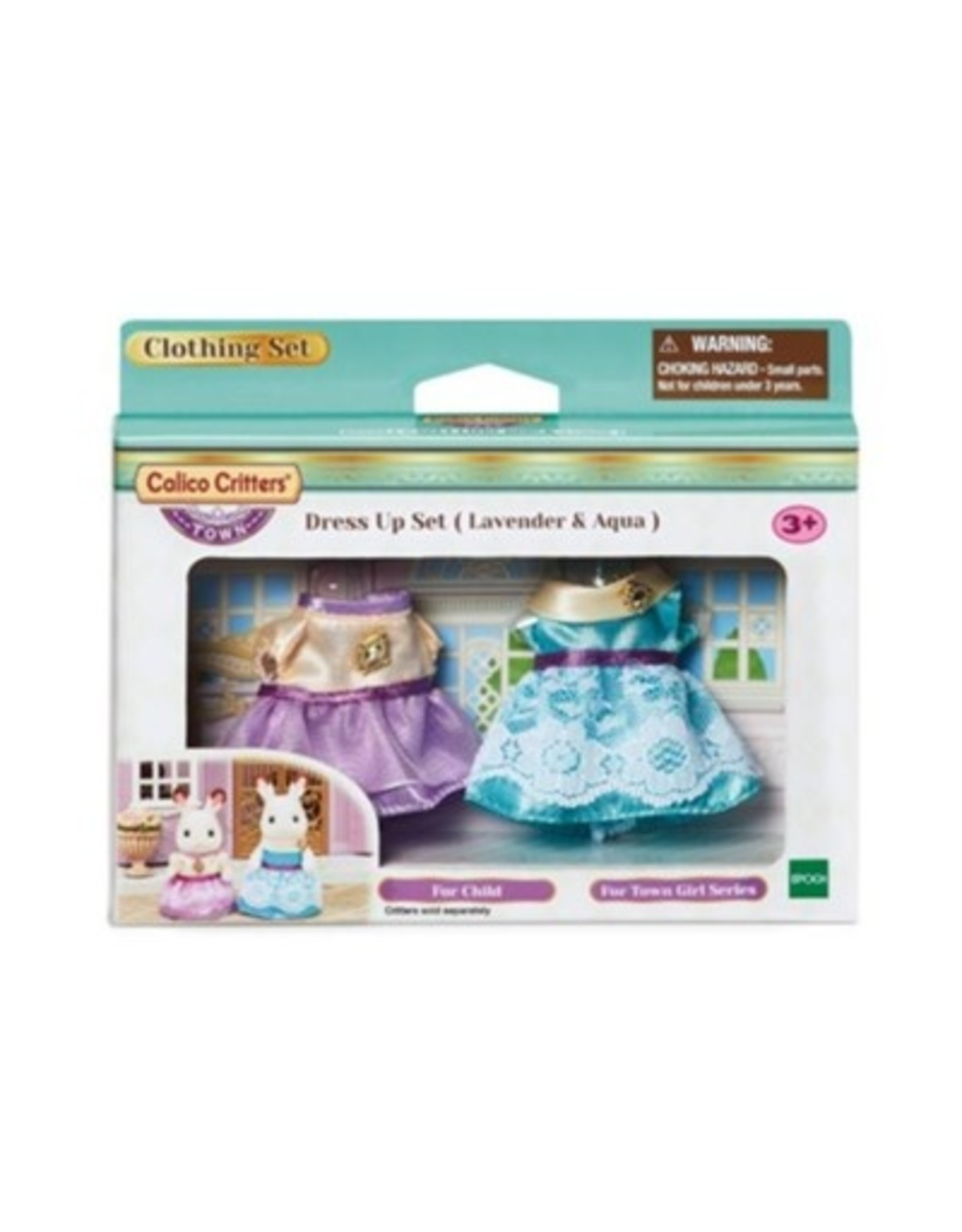 Calico Critters Calico Critters Dress Up Lavender and Aqua